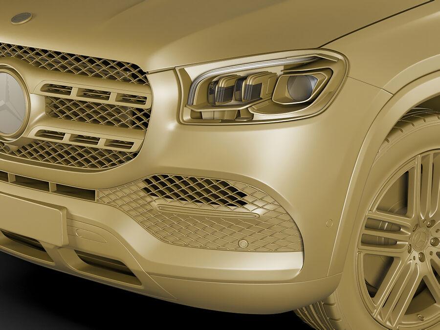 Mercedes GLS 2020 royalty-free 3d model - Preview no. 19