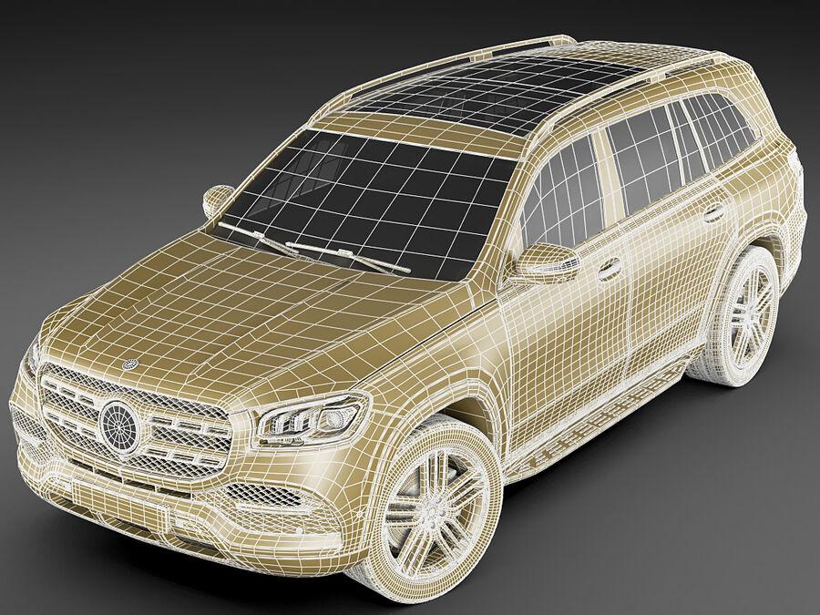 Mercedes GLS 2020 royalty-free 3d model - Preview no. 21