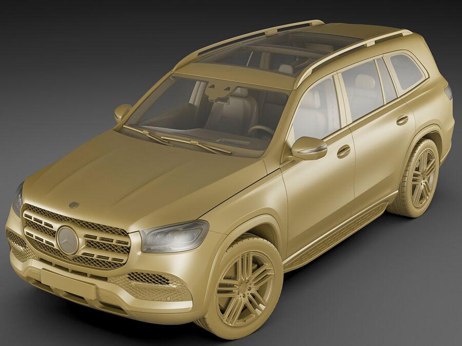 Mercedes GLS 2020 royalty-free 3d model - Preview no. 17