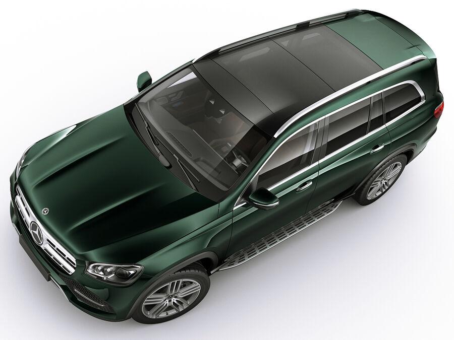 Mercedes GLS 2020 royalty-free 3d model - Preview no. 6
