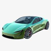 2020 Tesla Roadster green 3d model