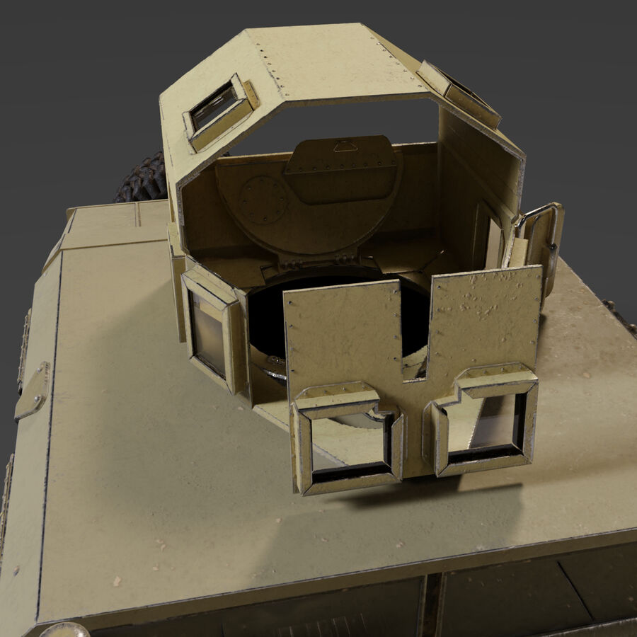 Humvee (HMMWV) with interior royalty-free 3d model - Preview no. 7