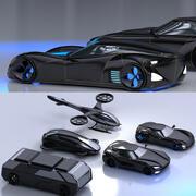 미래형 자동차 컬렉션 1001 3d model