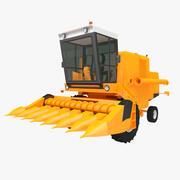 Corn Combine Harvester 3d model