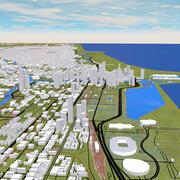 Chicago şehri 3d model
