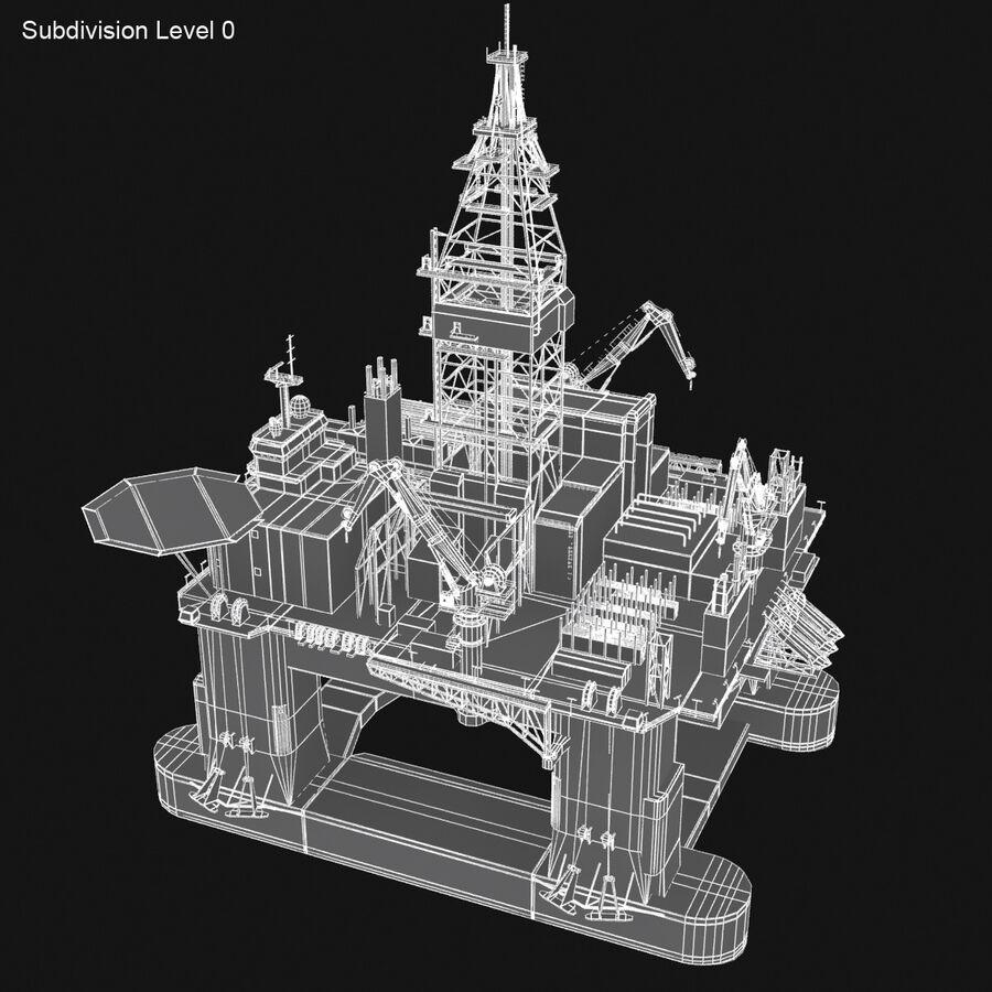 Oil Production Platform Set royalty-free 3d model - Preview no. 30
