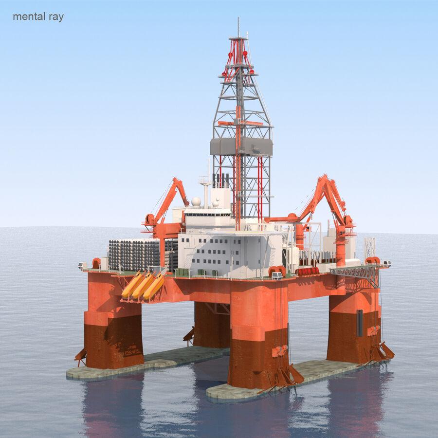 Oil Production Platform Set royalty-free 3d model - Preview no. 23