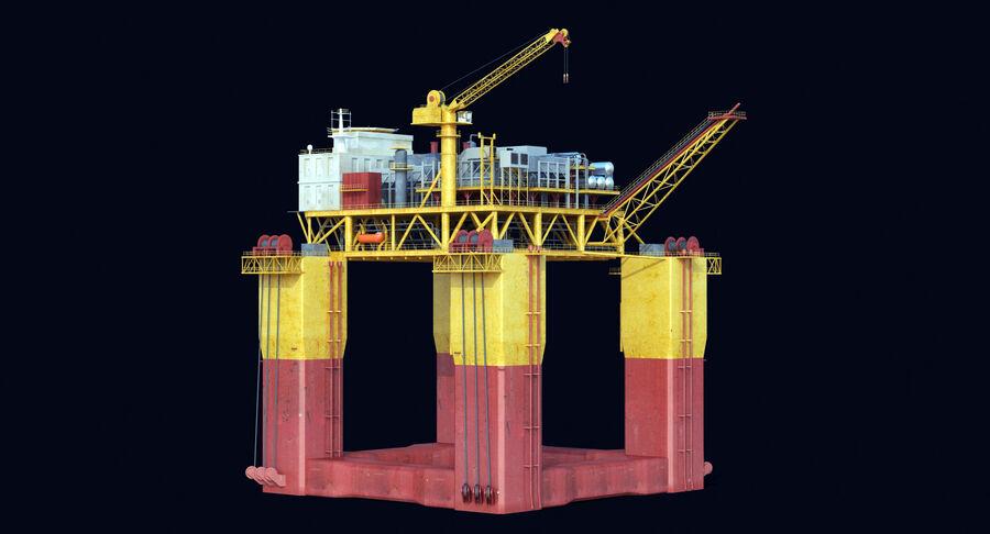Oil Production Platform Set royalty-free 3d model - Preview no. 6