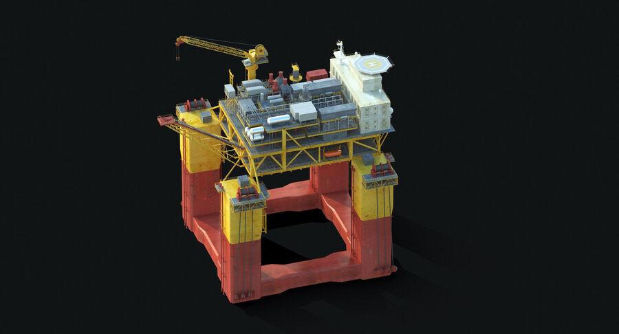 Oil Production Platform Set royalty-free 3d model - Preview no. 9