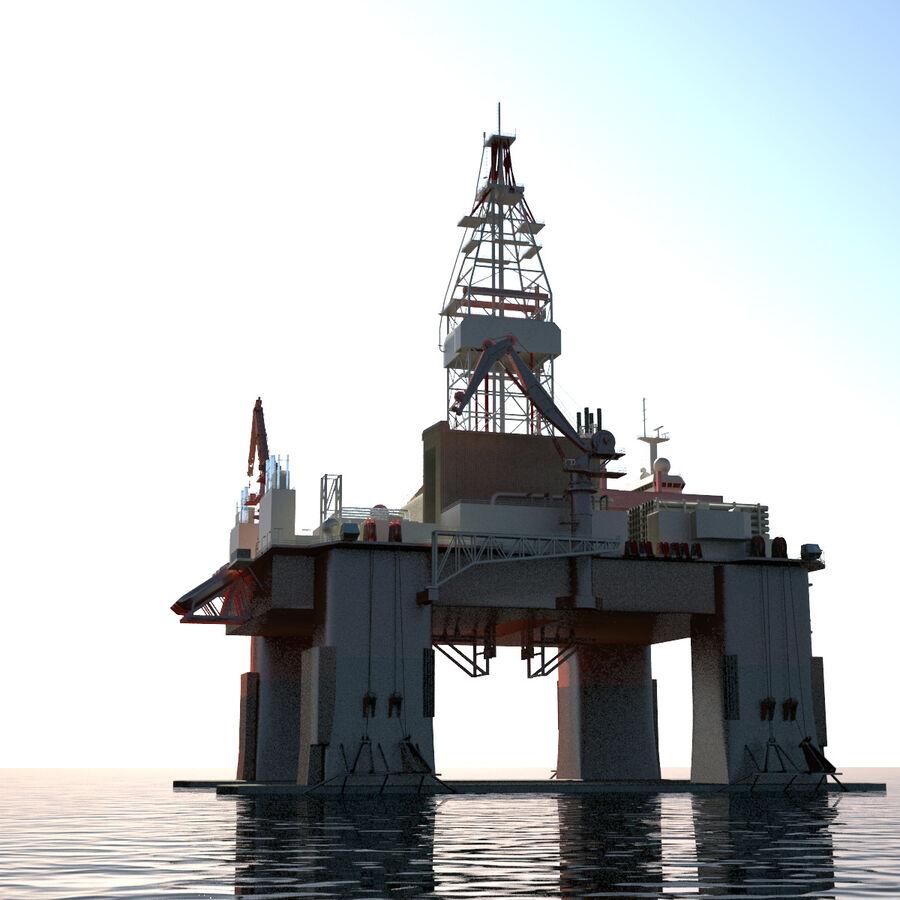 Oil Production Platform Set royalty-free 3d model - Preview no. 39