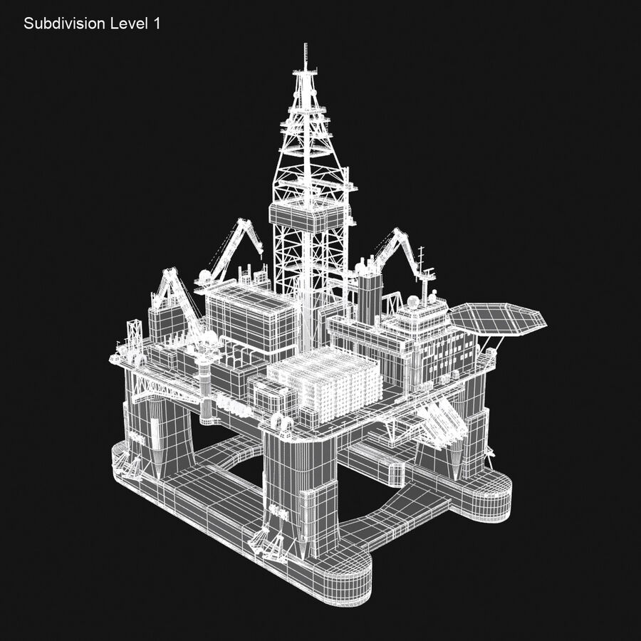 Oil Production Platform Set royalty-free 3d model - Preview no. 29
