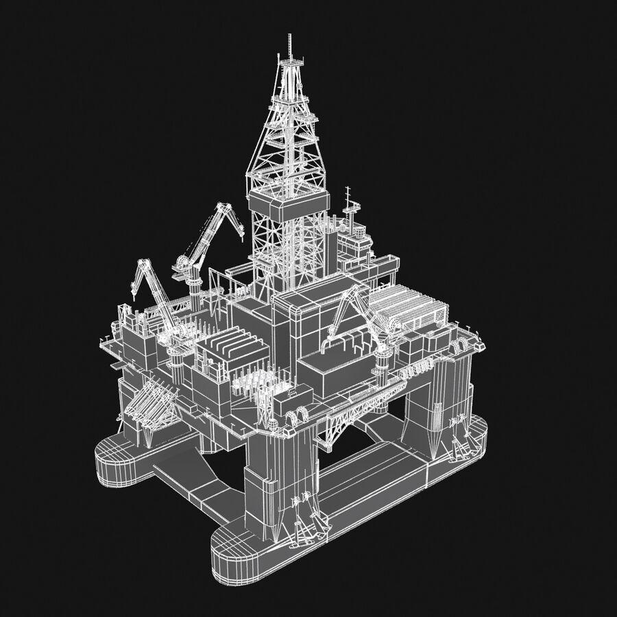 Oil Production Platform Set royalty-free 3d model - Preview no. 25