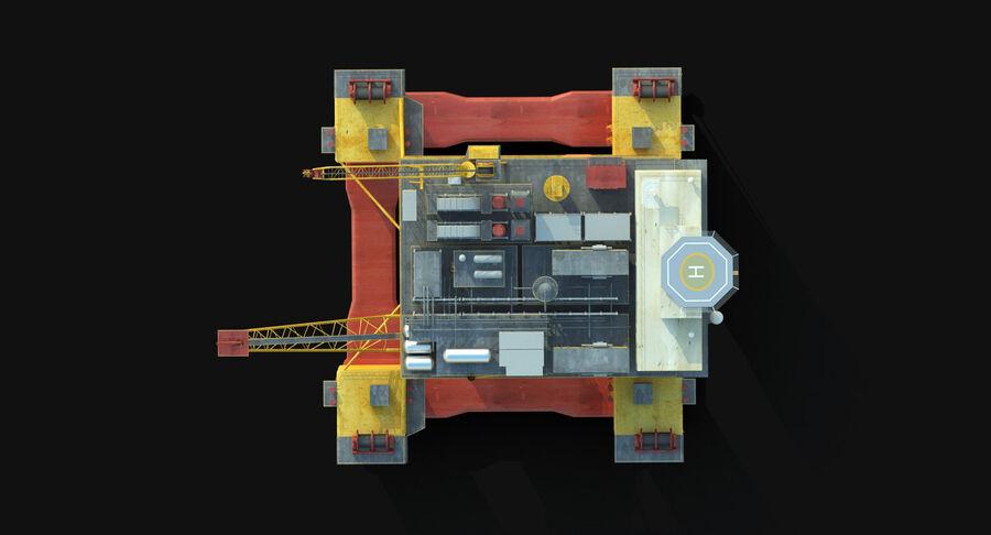 Oil Production Platform Set royalty-free 3d model - Preview no. 14
