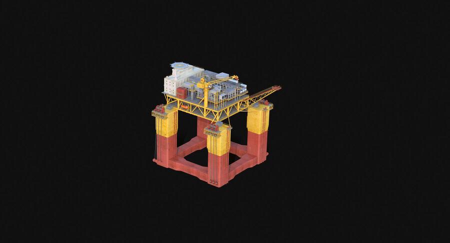 Oil Production Platform Set royalty-free 3d model - Preview no. 13