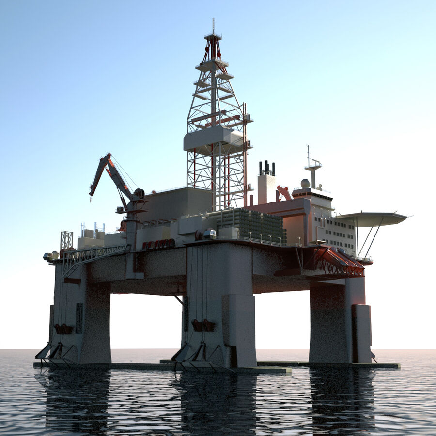 Oil Production Platform Set royalty-free 3d model - Preview no. 34