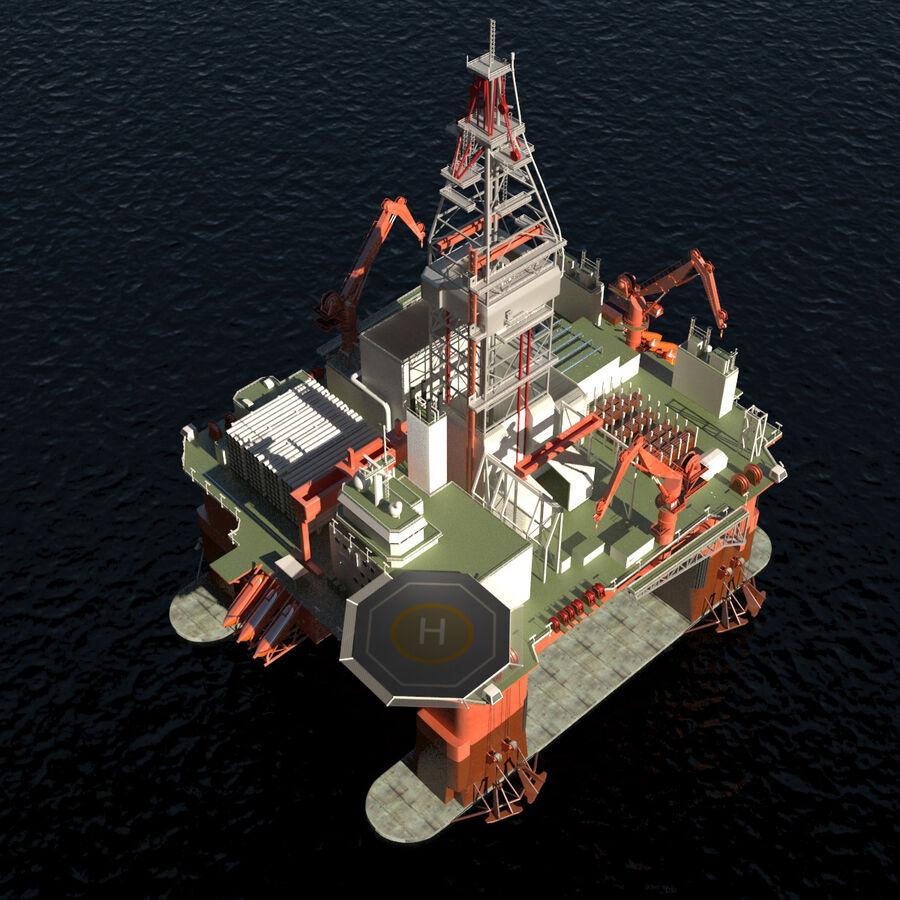 Oil Production Platform Set royalty-free 3d model - Preview no. 35