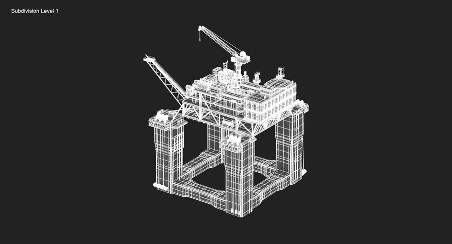 Oil Production Platform Set royalty-free 3d model - Preview no. 20