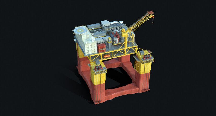 Oil Production Platform Set royalty-free 3d model - Preview no. 7