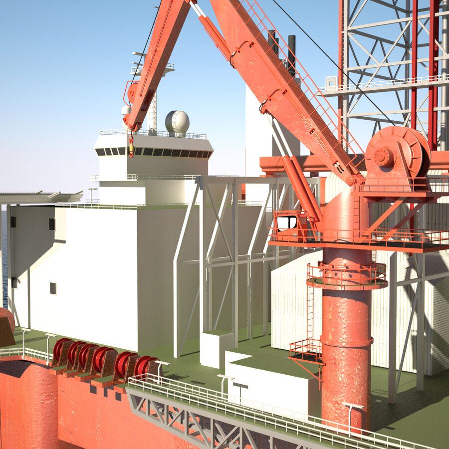 Oil Production Platform Set royalty-free 3d model - Preview no. 41