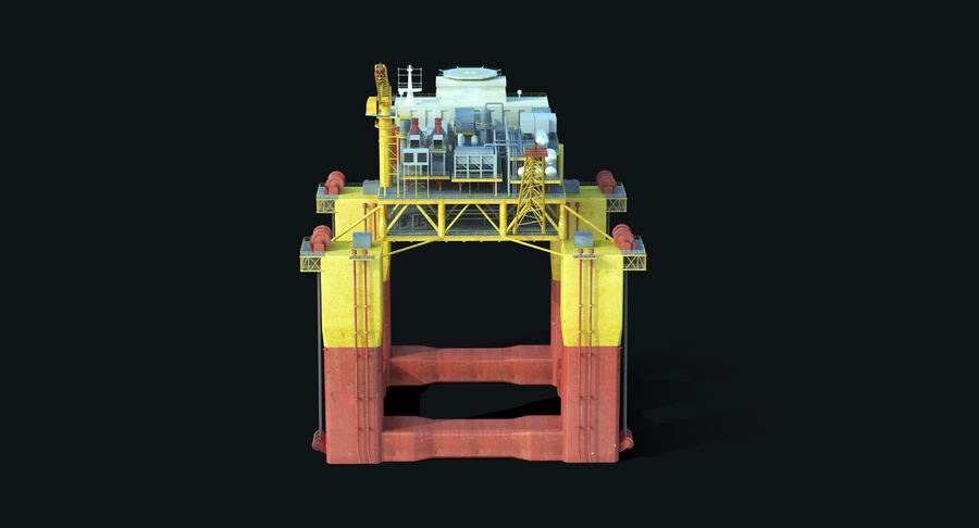 Oil Production Platform Set royalty-free 3d model - Preview no. 5