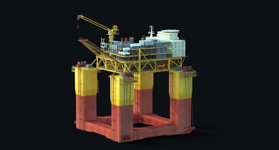Oil Production Platform Set royalty-free 3d model - Preview no. 4