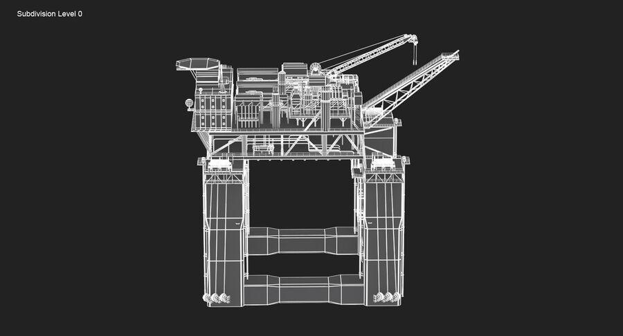 Oil Production Platform Set royalty-free 3d model - Preview no. 17
