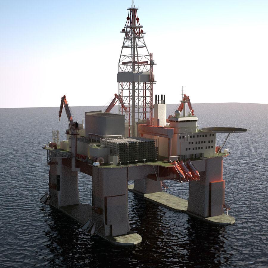 Oil Production Platform Set royalty-free 3d model - Preview no. 36