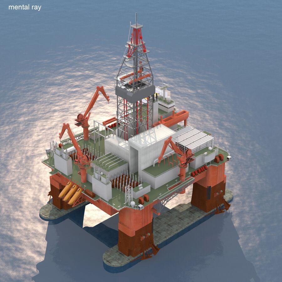 Oil Production Platform Set royalty-free 3d model - Preview no. 21