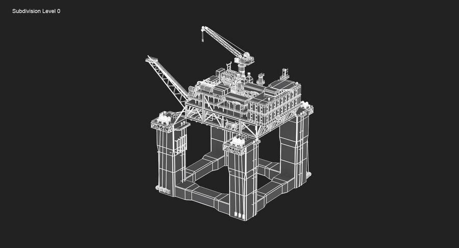 Oil Production Platform Set royalty-free 3d model - Preview no. 19