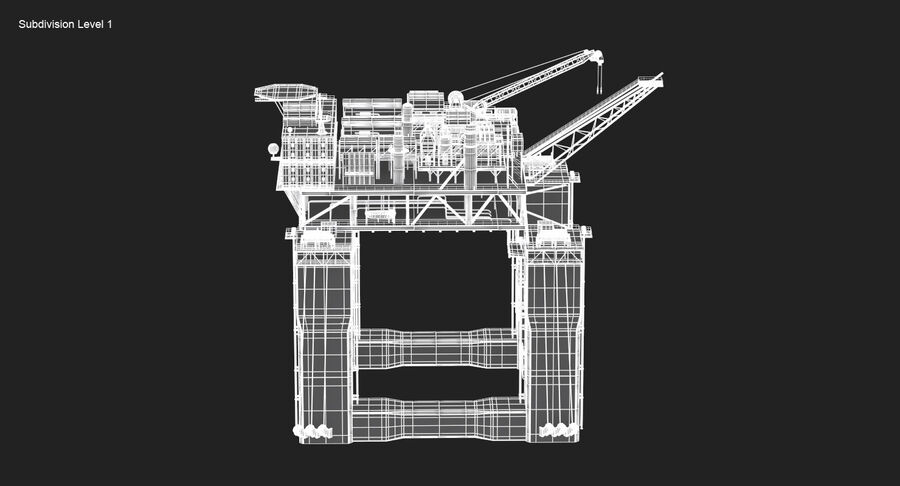 Oil Production Platform Set royalty-free 3d model - Preview no. 18
