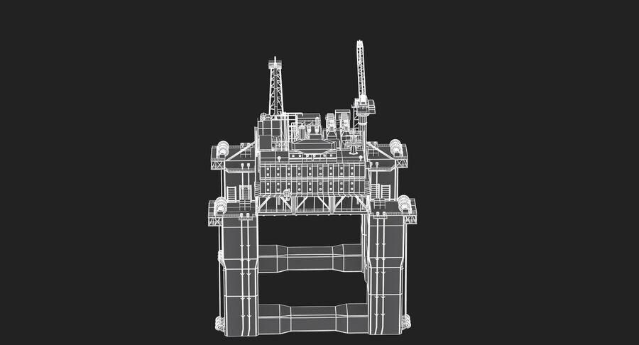 Oil Production Platform Set royalty-free 3d model - Preview no. 16