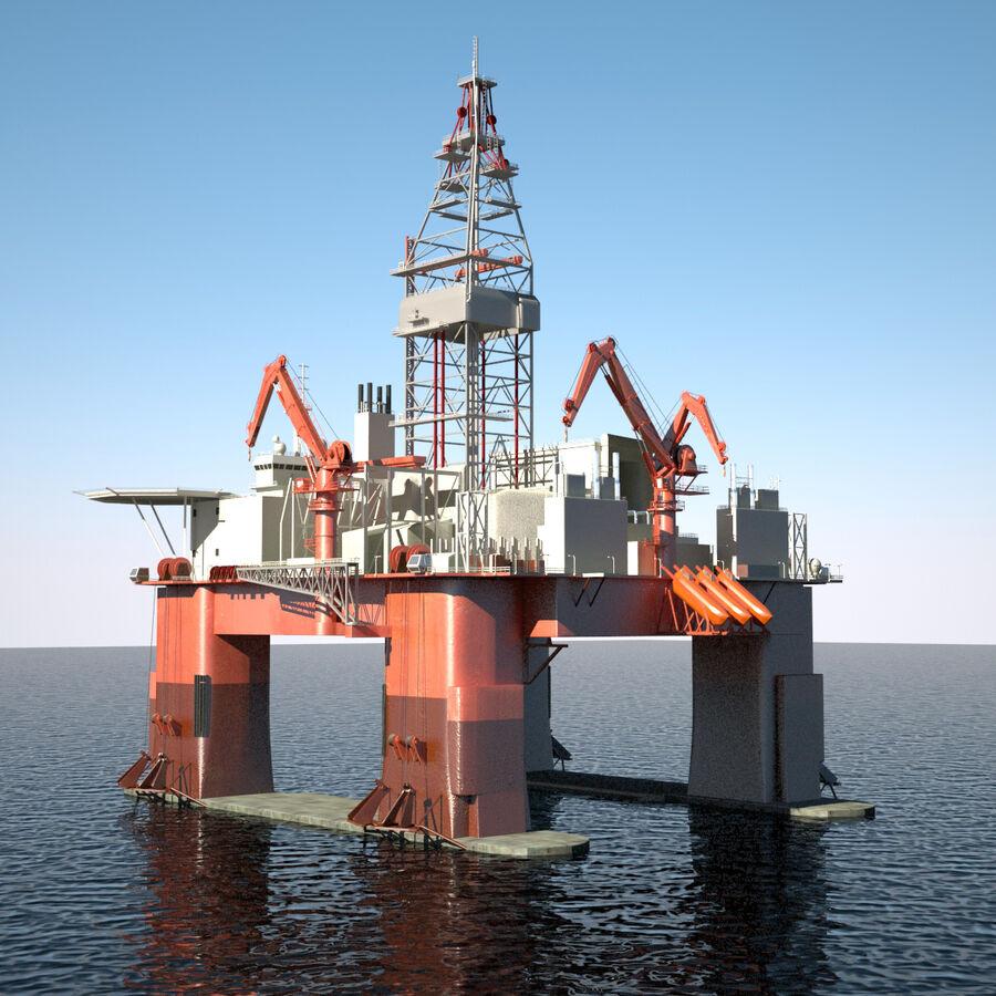 Oil Production Platform Set royalty-free 3d model - Preview no. 32