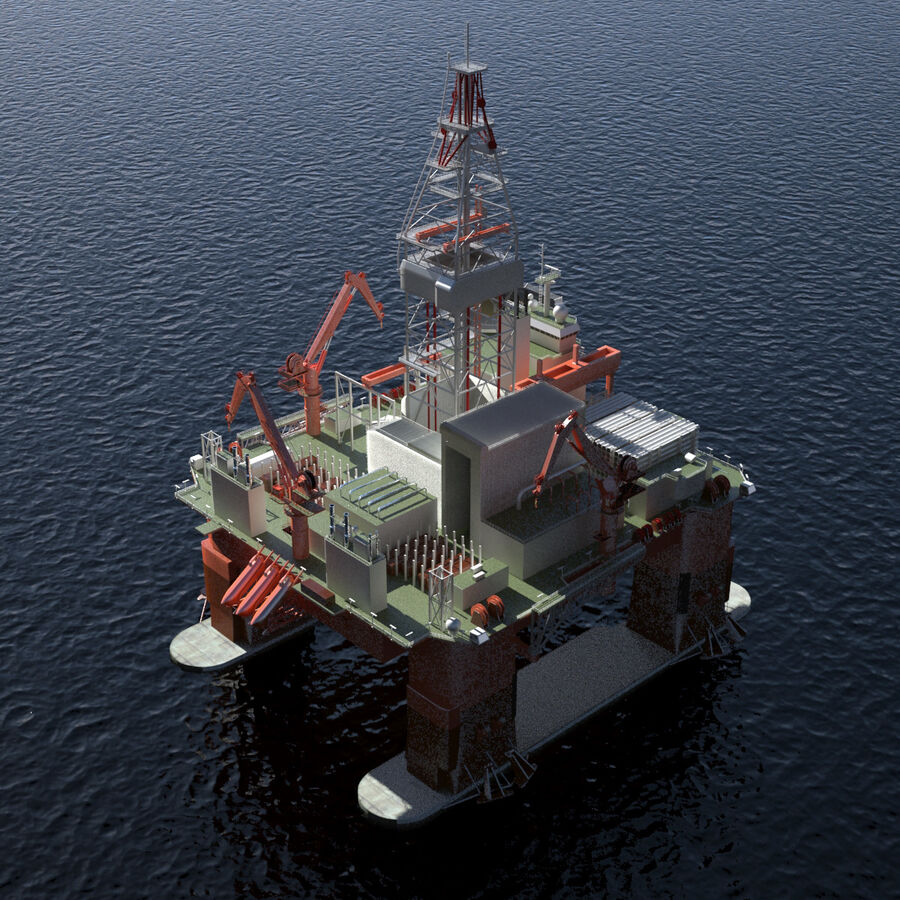 Oil Production Platform Set royalty-free 3d model - Preview no. 33