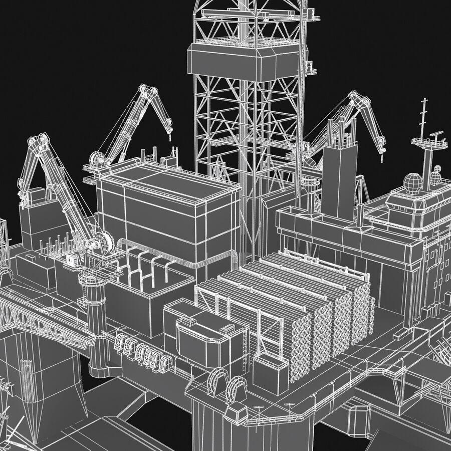 Oil Production Platform Set royalty-free 3d model - Preview no. 27