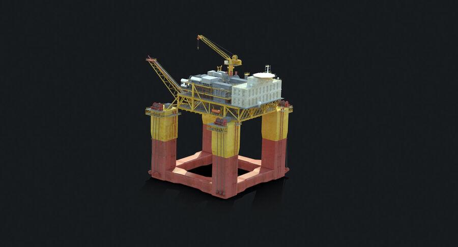 Oil Production Platform Set royalty-free 3d model - Preview no. 15