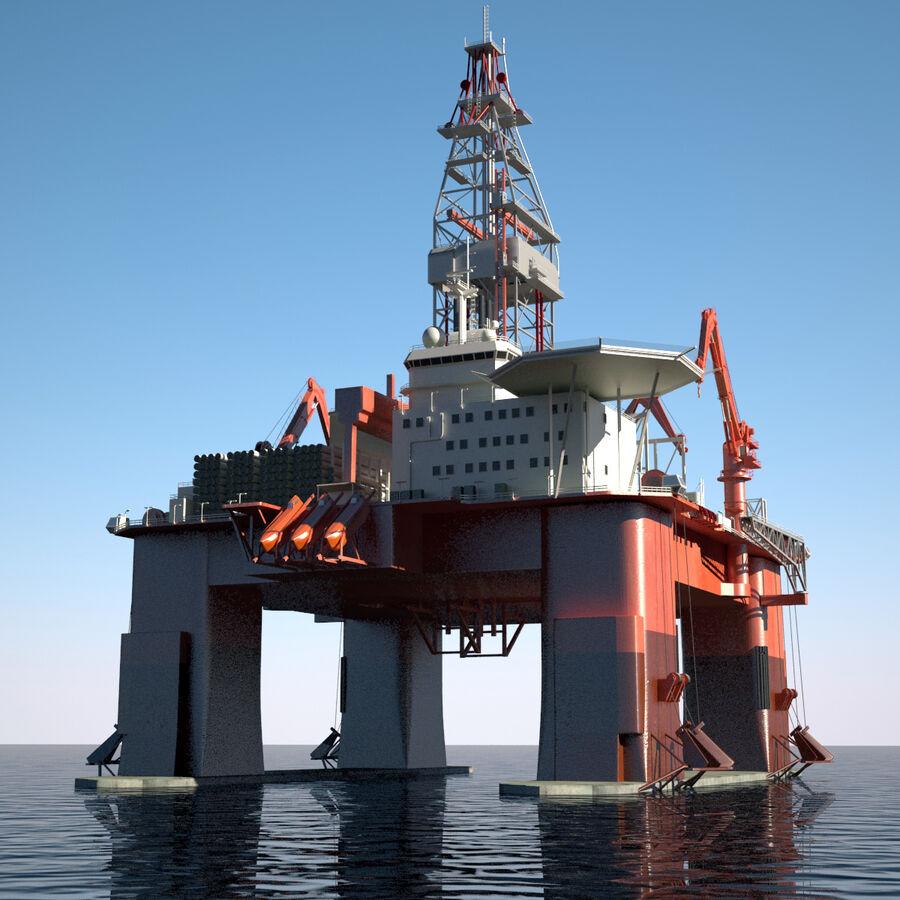 Oil Production Platform Set royalty-free 3d model - Preview no. 40