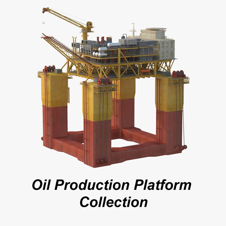 Oil Production Platform Set royalty-free 3d model - Preview no. 1