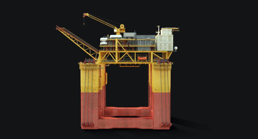 Oil Production Platform Set royalty-free 3d model - Preview no. 10