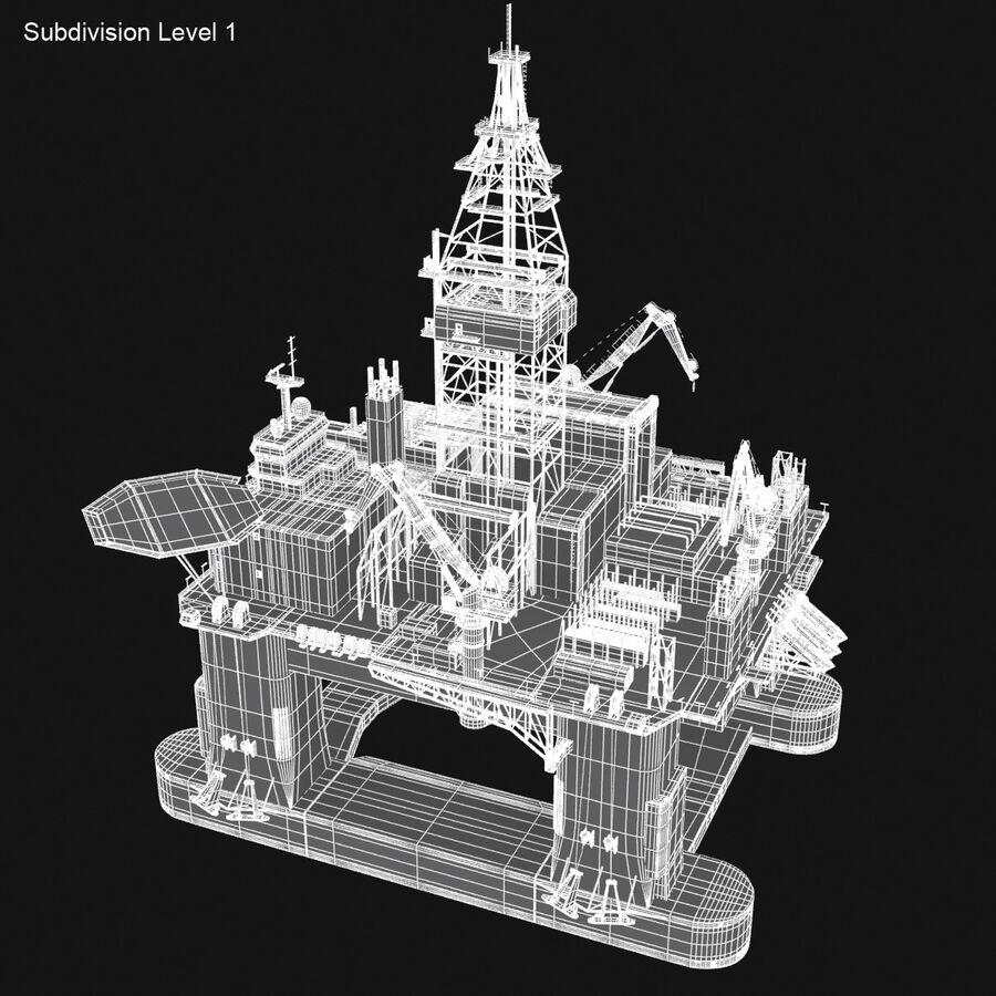 Oil Production Platform Set royalty-free 3d model - Preview no. 31