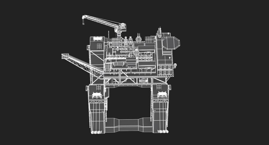 Oil Production Platform Set royalty-free 3d model - Preview no. 12
