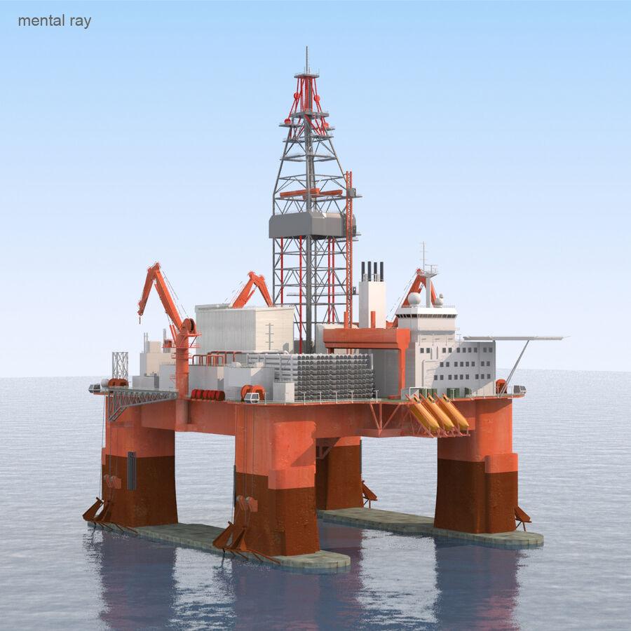 Oil Production Platform Set royalty-free 3d model - Preview no. 22