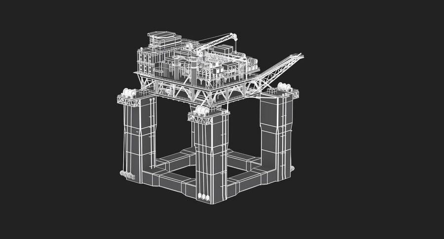 Oil Production Platform Set royalty-free 3d model - Preview no. 11