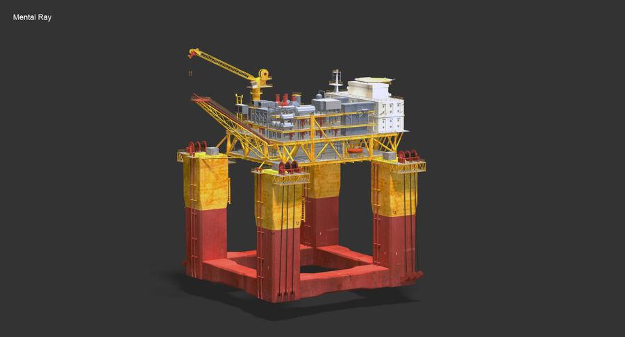 Oil Production Platform Set royalty-free 3d model - Preview no. 3