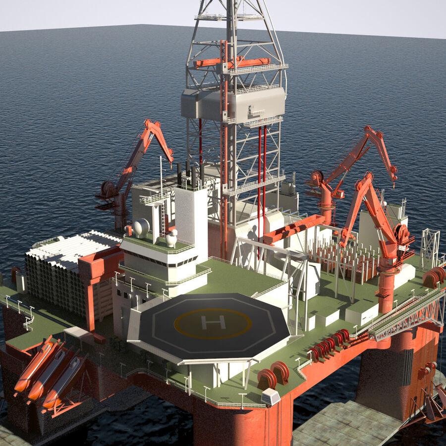 Oil Production Platform Set royalty-free 3d model - Preview no. 37