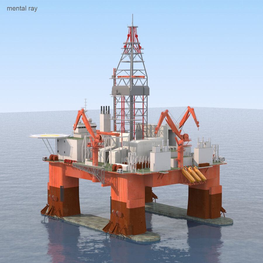 Oil Production Platform Set royalty-free 3d model - Preview no. 24
