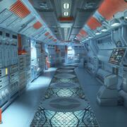 Command Center Corridor 3d model