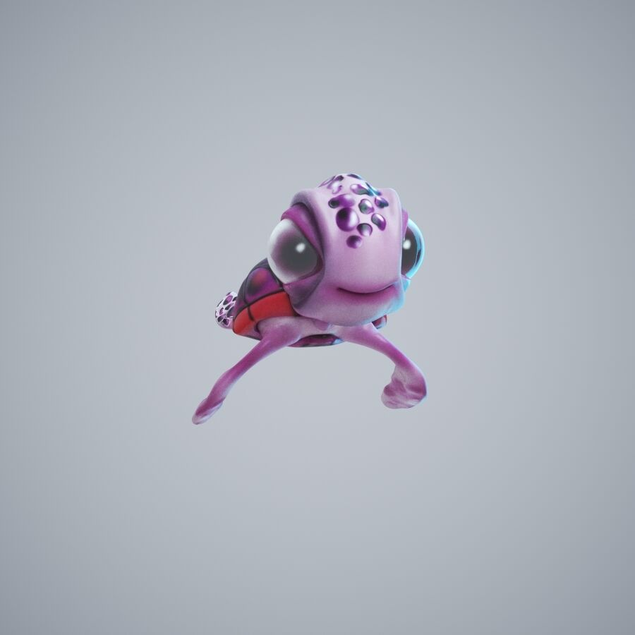 Turtle Cute royalty-free 3d model - Preview no. 3