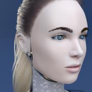 Cyborg Girl 3d model