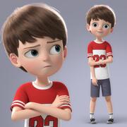 卡通男孩索具 3d model