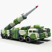 Missile balistique Chine DF-21C 3d model